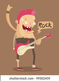 Punk rock guitar player