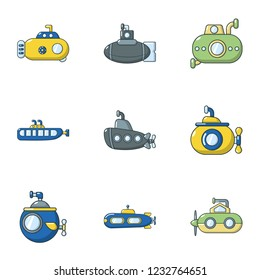 Punt icons set. Flat set of 9 punt vector icons for web isolated on white background