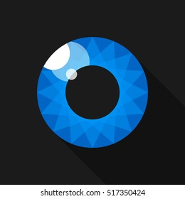 Pupil. Eye. Image for the logo. Blue