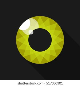 Pupil. Eye. Image for the logo. Lime