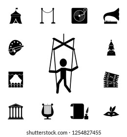 puppet icon. Detailed set of theater icons. Premium graphic design. One of the collection icons for websites, web design, mobile app