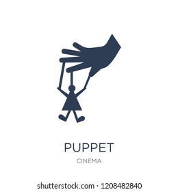 Puppet icon. Trendy flat vector Puppet icon on white background from Cinema collection, vector illustration can be use for web and mobile, eps10