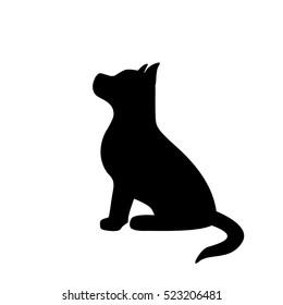 puppy black silhouette