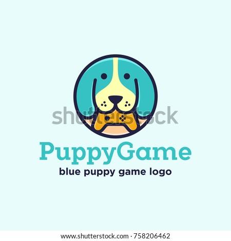 Puppy Game Logo Design Dog Logo Stock Vector Royalty Free