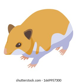Puppy hamster icon. Isometric of puppy hamster vector icon for web design isolated on white background