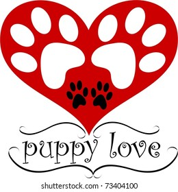 Puppy Love, A simple graphic for dog lovers