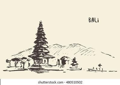 Hindu Temples In Bali Stock Vectors Images Vector Art Shutterstock