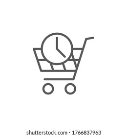 Purchase history vector icon symbol isolated on white background