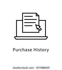 Purchase History Vector Line Icon
