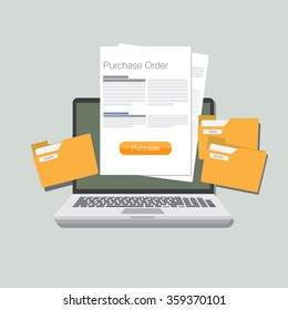 purchase order illustration flat design
