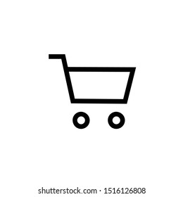 Purchase vector icon, cart symbol. Simple, flat design for web or mobile app
