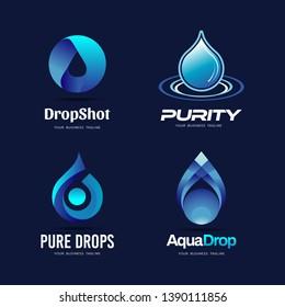 Pure Blue Drop Logo Collection