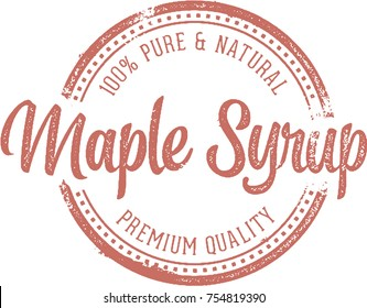 Pure Maple Syrup Stamp Label