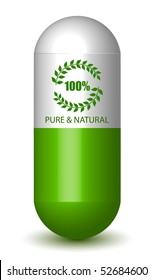 Pure & Natural Sign Pill (Vector)