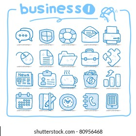 Pure series | Hand drawn business icon | series 1