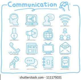 Pure Series | Hand drawn Communication , Network icon set