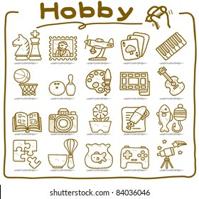 Pure Series | hand drawn Hobby, Leisure and Holiday Icons