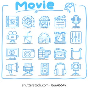 Pure series | Hand drawn movie icon set