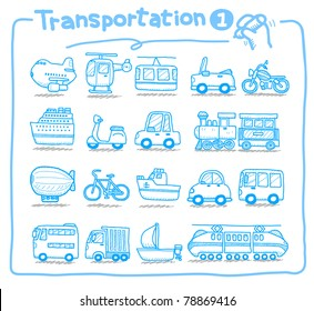 Pure series | hand drawn transportation icon,  Mode of Transport