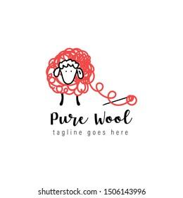 pure wool logo design, icon design template elements