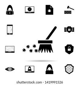 purge icon. Universal set of hacker for website design and development, app development
