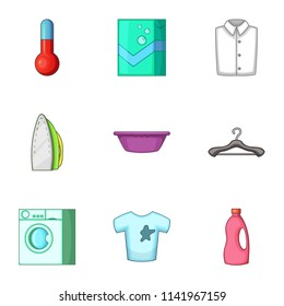 Purge icons set. Cartoon set of 9 purge vector icons for web isolated on white background