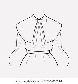 Puritan collar icon line element. Vector illustration of puritan collar icon line isolated on clean background for your web mobile app logo design.