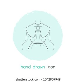 Puritan collar icon line element. Vector illustration of puritan collar icon line isolated on clean background for your web mobile app logo design.