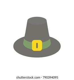 Puritan hat flat icon