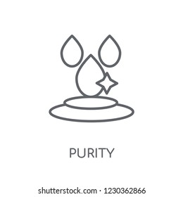 purity linear icon. Modern outline purity logo concept on white background from Hygiene collection. Suitable for use on web apps, mobile apps and print media.