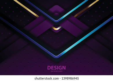 purple abstract background banner with circle gold coloe creative digital light modern