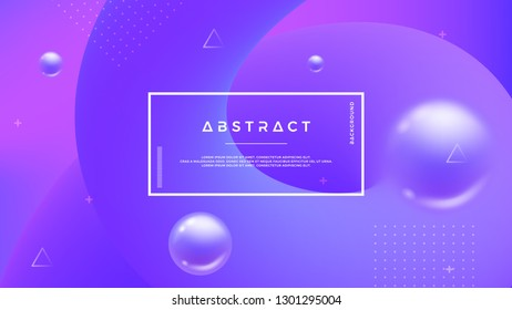 Purple abstract background with a dynamic liquid shape. Minimal fluid background for posters, placards, brochures, banners, web pages, headers, covers, and other. Eps10 vector background.