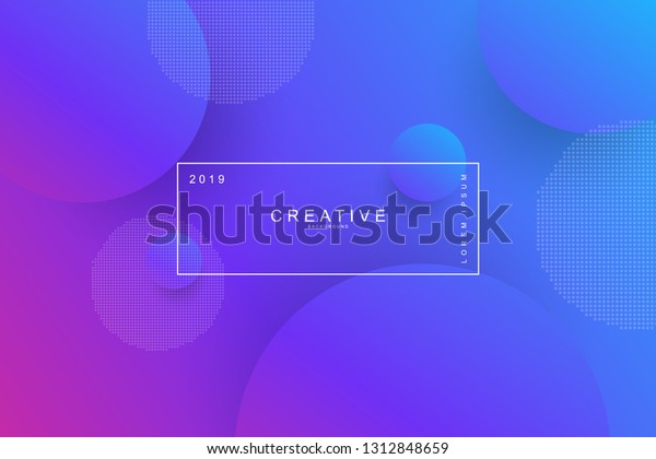 Purple Abstract Cool Background Circle Shape Stock Vector