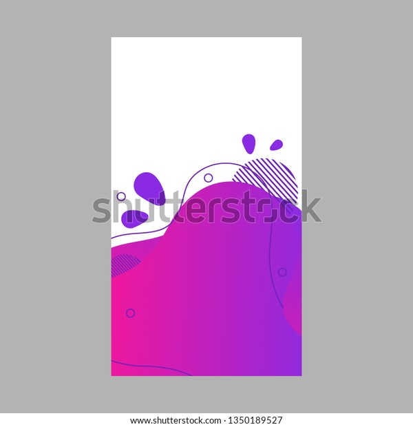 Purple Abstract Fluid Social Media Background Stock Vector