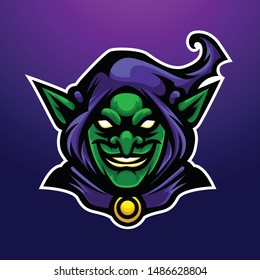 Purple Angry Witch Gold Goblin Slayer Suitable for eSPORT or Gaming logo