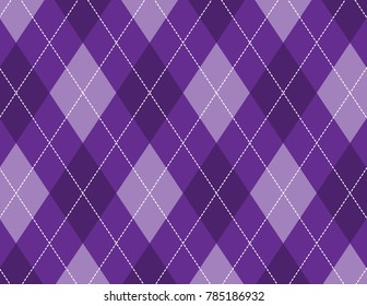 Purple Argyle Background