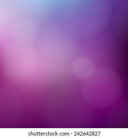 Purple background with defocused lights - Vector