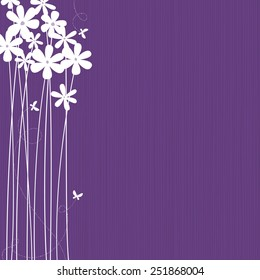 Tall purple flowers images stock photos vectors shutterstock purple background with white flowers and butterflies space for copytext layered vector mightylinksfo