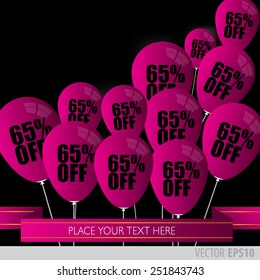 Purple balloons With Sale Discounts 65 percent.