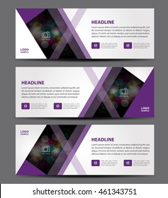 Purple Banner Template vector, horizontal banner,advertising display layout, banner for web