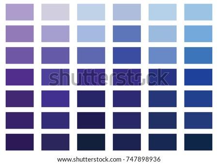 purple blue color palette vector illustration 747898936 shutterstock. Black Bedroom Furniture Sets. Home Design Ideas