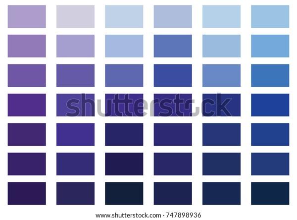 Purple Blue Color Palette Vector Illustration Stock Vector Royalty