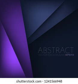 Purple and blue layer vector background overlap