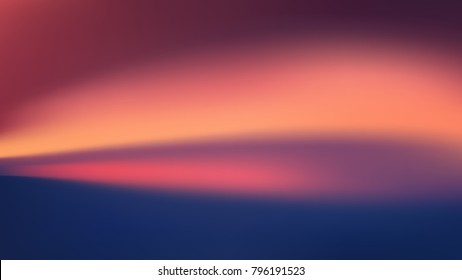 Purple and blue violet winter sunset in haze vector background