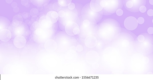 Purple bokeh vector background. Abstract gradient glitter illustration wallpaper for template website. Cover social media business advertising. minimal style.