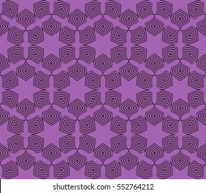 purple color. Abstract floral seamless pattern. geometry design. Vector. Texture for holiday cards, Valentines day, wedding invitations