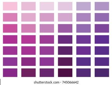 Purple color palette vector illustration