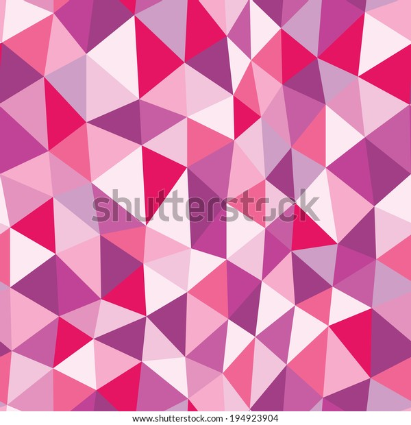 Purple Colorful Abstract Mosaic Triangle Seamless Stock