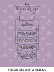 Purple crockery