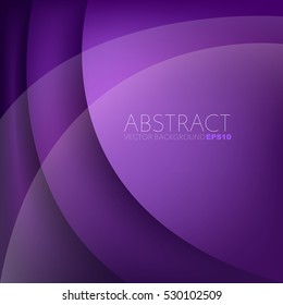 Purple curve layer background with space for add text , vector